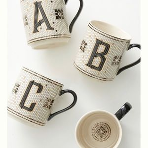 "Anthropologie  Margot tile cup ""V"""
